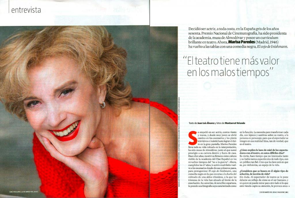 Marisa Paredes en el Magazine de La Vanguardia